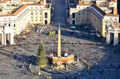 Blick des Marktplatzes San Pietro Lizenzfreie Stockfotografie