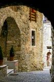Blick einer Straße in einer mittelalterlichen Stadt Lizenzfreie Stockfotografie