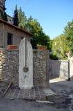 Blick eines typischen mittelalterlichen Dorfs Lizenzfreies Stockfoto