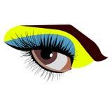Blick för ögonglob för svart för människa för vektorillustrationöga royaltyfri illustrationer