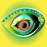 Blick för ögonglob för svart för vektorillustrationöga royaltyfri illustrationer