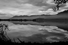 Blick för olje- målning av reflexionen av naturskönhet Royaltyfria Foton