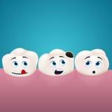 Blick för tre tänder på hole in one av dem Arkivbilder