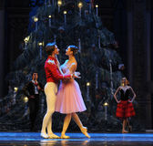 Blick fast det andra för handling för fältgodis i andra hand kungariket - balettnötknäpparen Arkivfoto