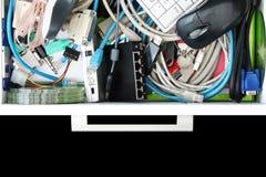 Blick innerhalb des Computer-Material-Faches Lizenzfreie Stockbilder