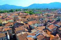 Blick in Lucca Stockfoto