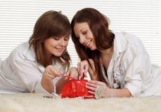 Blick mit zwei Mädchen auf die Verfassung Lizenzfreie Stockfotos
