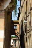 Blick von altem im Stadtzentrum gelegenem Mantua, Italien Stockfoto