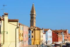 Blick von Burano Insel, Venedig Stockfotografie