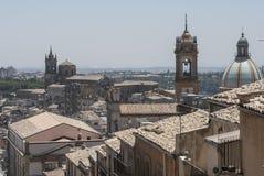Blick von caltagirone Catania Sizilien Italien Europa Stockfoto