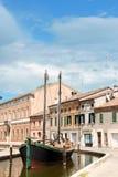 Blick von Comacchio Stockfoto
