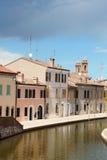 Blick von Comacchio, Italien Stockbild