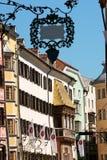 Blick von im Stadtzentrum gelegenem Innsbruck Stockbilder