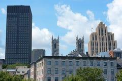 Blick von im Stadtzentrum gelegenem Montreal Stockfoto