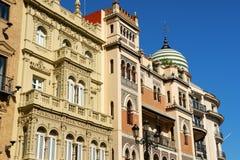Blick von im Stadtzentrum gelegenem Sevilla, Spanien Stockfoto
