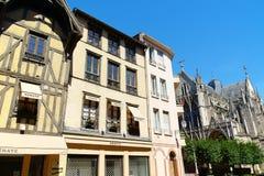 Blick von im Stadtzentrum gelegenem Troyes, Frankreich Stockfoto