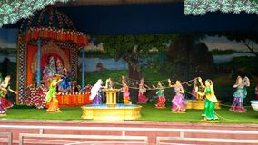Blick von Lord Krishna bei Prem Mandir Vrindavan stockbilder