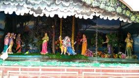 Blick von Lord Krishna bei Prem Mandir Vrindavan lizenzfreies stockbild