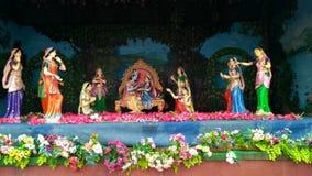Blick von Lord Krishna bei Prem Mandir Vrindavan lizenzfreies stockfoto