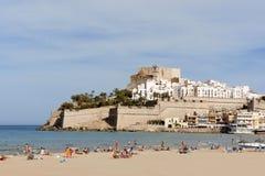 Blick von Peniscola, Spanien Lizenzfreie Stockfotos