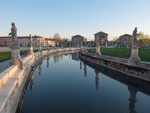 Blick von Prato-della Valle in Padua Stockfotografie