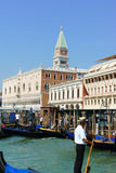 Blick von Venedig im Sommer Stockfotografie