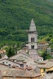 Blick von Visso, schönes Dorf in der Provinz von Macerata Lizenzfreie Stockfotos