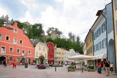 Blicke der schönen Stadt von Süd-Tirol Stockfotos
