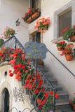 Blicke des wunderbaren Bergdorfes - Pescocostanzo Stockfotos