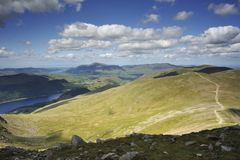 Blicken in Richtung Schottlands Stockbild