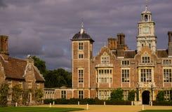 Blickling Hall,Norfolk,UK. Dark clouds behind Blickling Hall near Alysham,Norfolk,UK Stock Photography