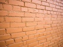 Blickwinkel auf der Backsteinmauer Lizenzfreies Stockfoto