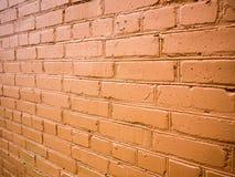 Blickwinkel auf der Wand des roten Backsteins Lizenzfreies Stockbild