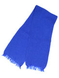 Blie woolen scarf royalty free stock photography