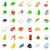 Blighty icons set, isometric style. Blighty icons set. Isometric set of 36 blighty vector icons for web isolated on white background Royalty Free Stock Image