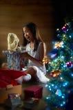 Blije Aanwezige Kerstmis Stock Fotografie
