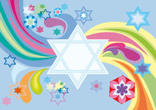 Blije achtergrond van de Joodse vakantie Stock Afbeeldingen