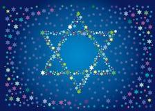 Blije achtergrond van de Joodse vakantie Vector Illustratie