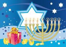 Blije achtergrond van de Joodse vakantieChanoeka Stock Foto