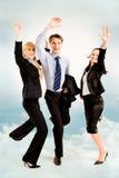 Blije bedrijfsmensen Royalty-vrije Stock Foto