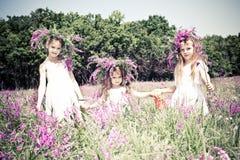 Blije jonge geitjes Royalty-vrije Stock Afbeeldingen