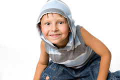 Blije jonge jongen Stock Foto