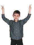 Blije jonge jongen Stock Foto's