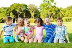 Blije kinderen Stock Foto's