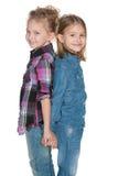 Blije vrolijke meisjes Stock Foto's