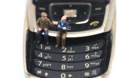 Blijf met oude vrienden in contact Stock Afbeelding