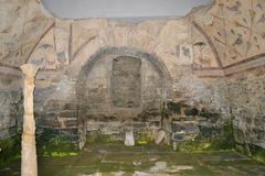 Blijft Roman bouw in Galicië stock fotografie