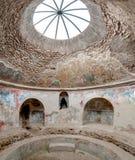Blijft van binnenkant stabian baden in Pompei Italië Pompei was DE Stock Foto