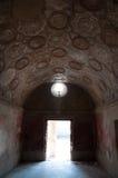 Blijft van binnenkant stabian baden in Pompei Italië Pompei was DE Royalty-vrije Stock Fotografie