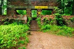 Blijft van Bunkers van Wolfsschanze royalty-vrije stock afbeelding